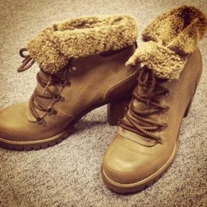 Carvela shearling boots